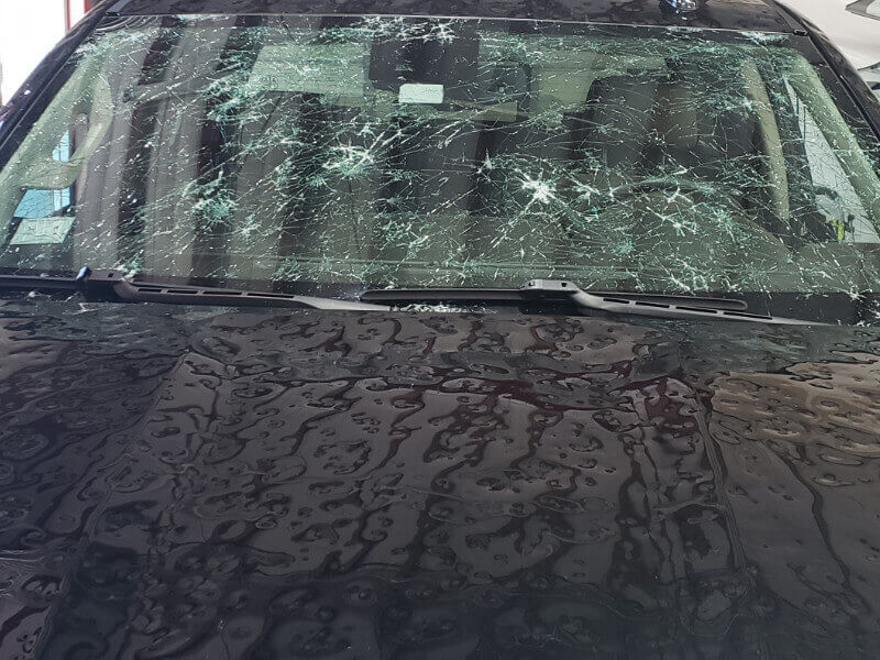 A Destroyed Windshield in Colorado