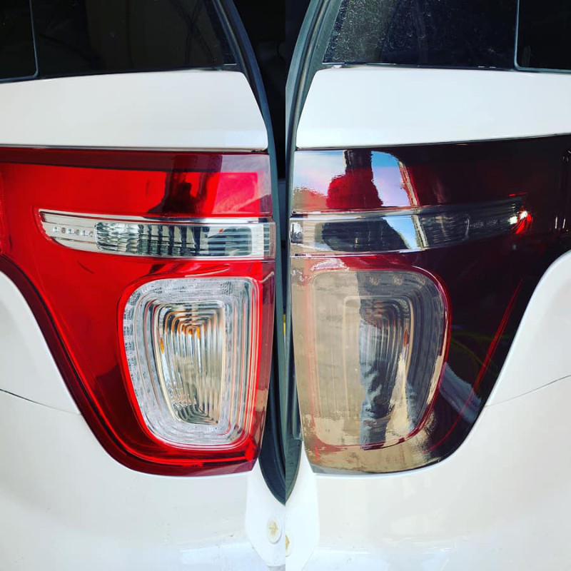Example of a tail light tint