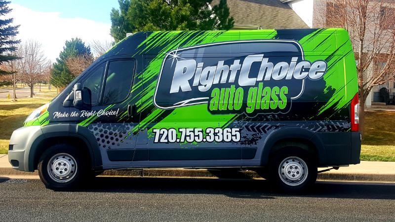 Right Choice Van Vinyl Wrapped Branding