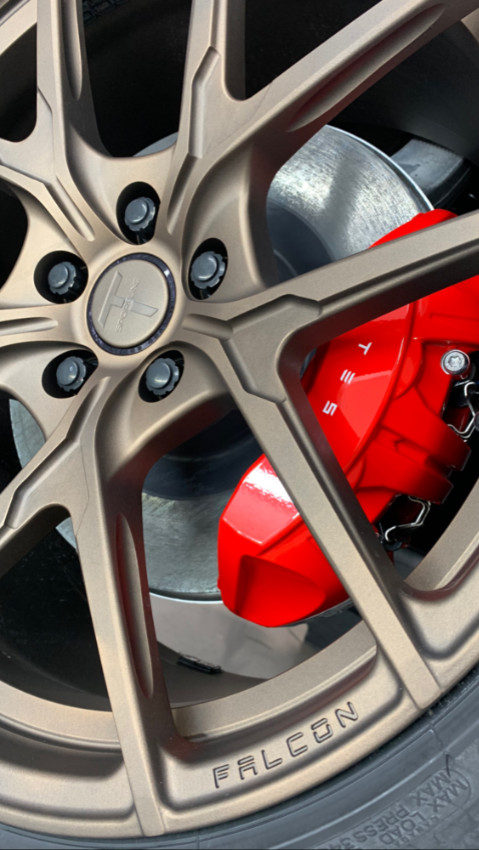 Powder coated brakes