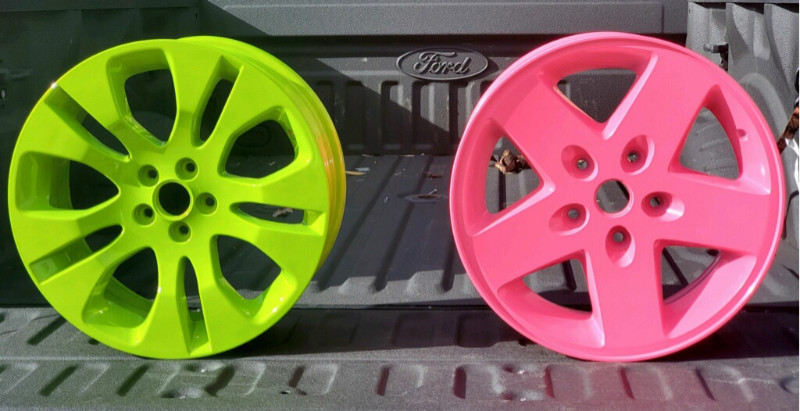 Rims powder coated by Right Choice